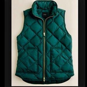 JCrew Green Puffer Vest